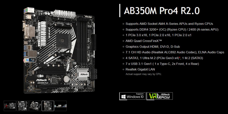 ASRockB350MPro4R20