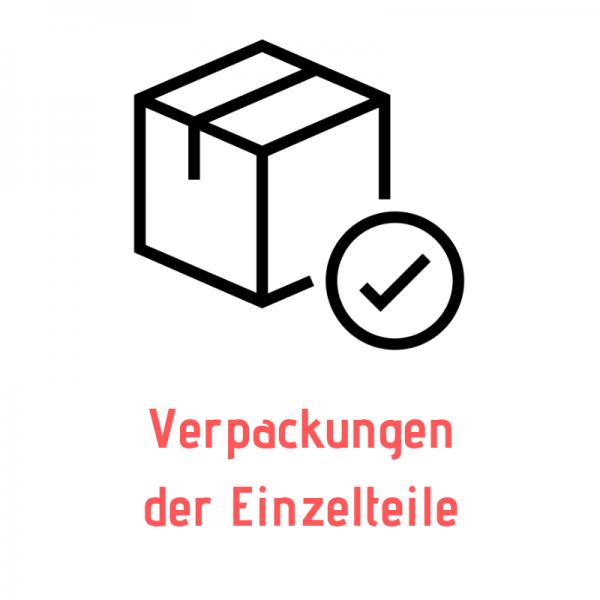 Verpackungen der Einzelteile