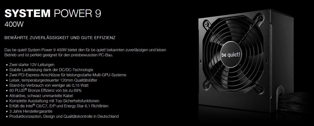 beQuietSystemPower9W400